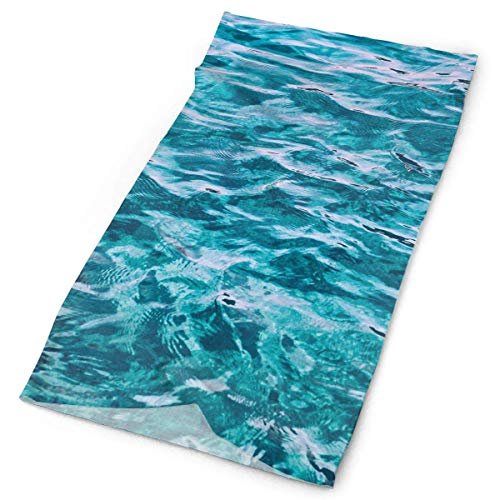 Tropical Color Natural Blue Coral Reef Ocean Wave Surface Original Headband with Multi-Function Sports and Leisure Headwear UV Protection Sports Neck, Sweat-Absorbent Microfiber Running, Yoga, Hiking -