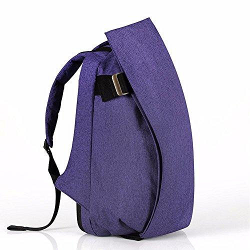 TBB-Zaino zaino outdoor da viaggio alla moda tendenza semplice di grande capacità borsa per computer,Tromba Viola Large Purple