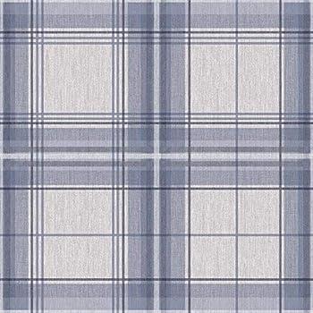 ARTHOUSE COUNTRY CHECKED BLUE /& GREY DENIM QUALITY TARTAN WALLPAPER 902808