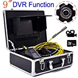 HONGSHENG 9 Pulgadas DVR Video 20M Tubería Industrial Inspección de alcantarillado Cámara de 23MM IP68 Detección de Drenaje Impermeable 1000 TV