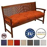 Beautissu Cuscino per panche Flair BK ca.120x50x10 cm soffice e comodo - per panchine da giardino e dondoli - arancione