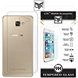 Samsung Galaxy A9 PRO Combo Pack of 1 Back Cover + 1 Tempered Glass With Rounded Edges