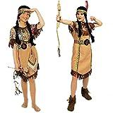 narrenkiste K31250652-48-50 braun Damen Indianerin Apachen Kleid Gr.48-50