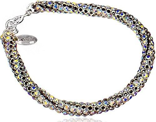 Imagen de cristales de swarovski beautiful unique pulsera 925plata de ley aurora cristalizado certificado