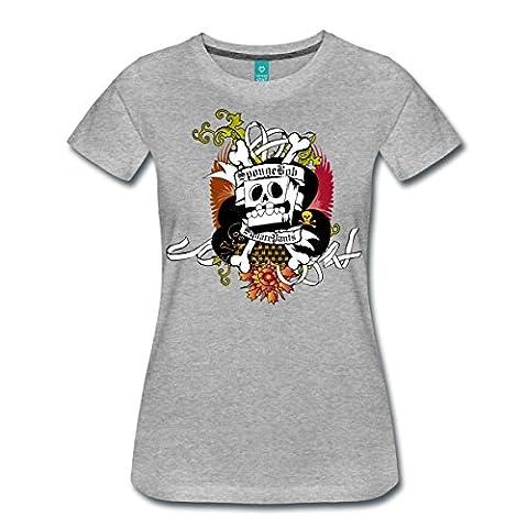 Bob L'Éponge Pirate SpongeBob SquarePants T-shirt Premium Femme de Spreadshirt®, 3XL, gris chiné