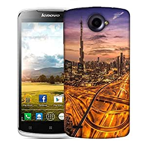Snoogg Dubai Famous Road Designer Protective Phone Back Case Cover For Lenovo S920