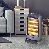 Warmlite WL42002 4 Bar Halogen Heater with Oscillation Function, 1600 W - Grey from Warmlite