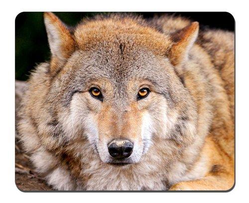 Preisvergleich Produktbild Gelb Wolf Mauspad, Gaming Maus Pad (25,9x 20,8cm)