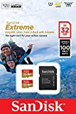 SanDisk Extreme microSDHC 2 x 32 GB UHS-I Speed Class 3. Bis zu 100 MB/s, 60 MB/S schreiben, Class 10 Speicherkarte mit SD Adapter