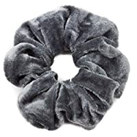 Mytoptrendz®- Grey Plain Soft Velvet Scrunchie