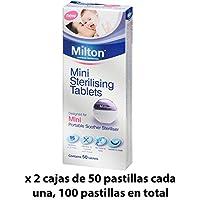 Pastillas Esterilizadoras Mini Milton, 100 unidades - Pastillas para esterilizar y desinfectar la Copa Menstrual Sileu - Ideales para usar con el Esterilizador Plegable Sileu