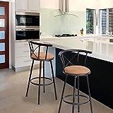 Set di 2 sedie da bar Sgabello girevole con struttura in metallo color marrone