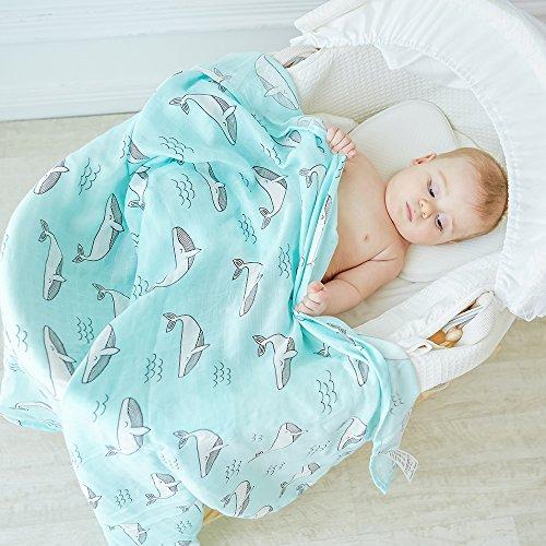 Lebze Baby Musselin Swaddle Decke - 120 x 120cm