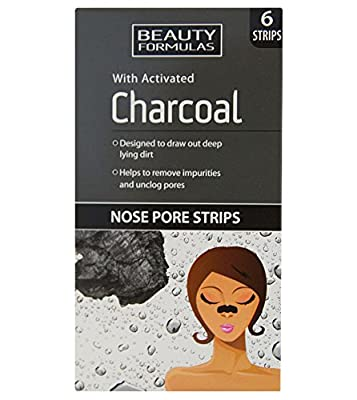 Beauty Formulas Nose Pore Strips with Activated Charcoal x 6