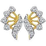 Myzevar 14K Yellow Gold and Diamond Alina Stud Earrings best price on Amazon @ Rs. 27962