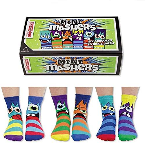 Trendaffe Oddsocks Mini mashers Calcetines Juego 6-Calcetín