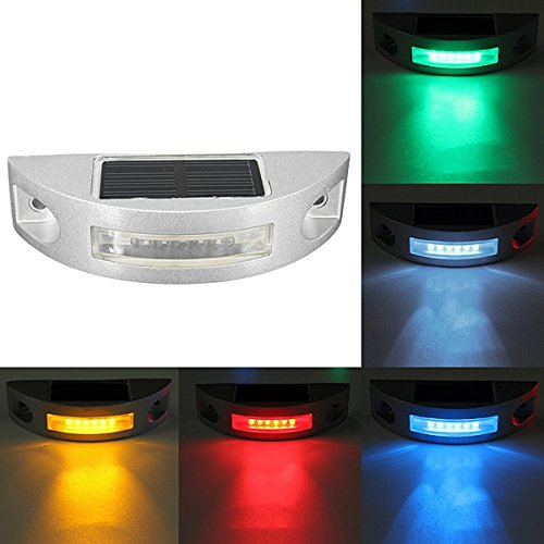 LED High-speed Reflective Spike Solar Powered Light Path Driveway Dock Ground Step Lamp IP68 - Dock Barca Parti