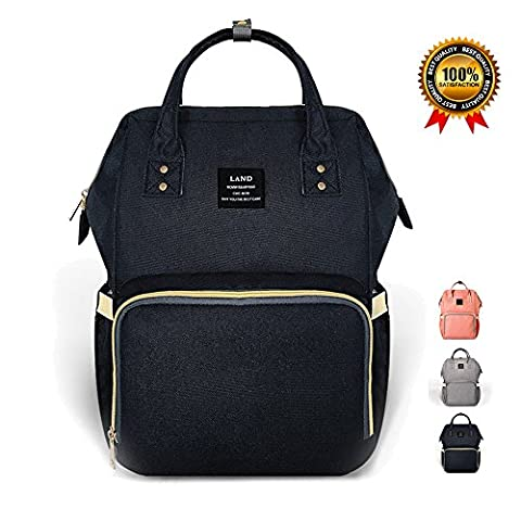 Diaper Bag Nappy Backpack for Baby Care, Multi-Functional Waterproof Travel Changing Bag Tote for Mom/Dad, Large Capacity, Stylish and Durable,