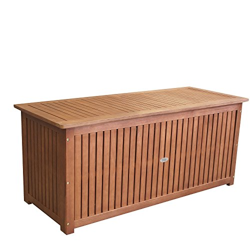 baule da giardino legno 133x58x55cm cassapanca per cuscino