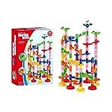 Formule billes Construction Blocs Longra Jeux De Construction Casse-tête Circuit de billes jeu educatif construction eveil enfant (33.8 x 45cm, Multicolore)...