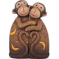 Jones Home and GiftPair of Hugging Monkeys Resin Animal Ornament