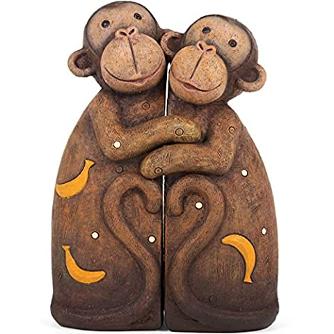 Jones Home and Gift Pair of Hugging Monkeys Resin Animal