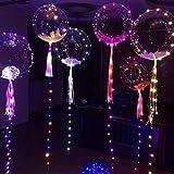 iBaste_Leuchtende Kugel Leuchtende Led Luftballons, Bunte Blinkendes LED Licht Ballons für Party, Weihnachten, Geburtstag, Hochzeit, Festival, Dauert 8-24 Stunden