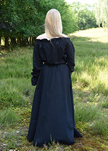 Mittelalterlicher Rock, weit ausgestellt, schwarz aus schwerer Baumwolle – Mittelalter, LARP, Wikinger Größe XL - 6