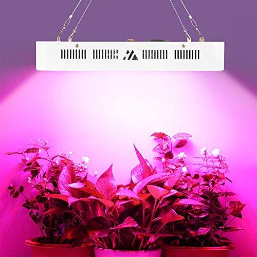 Grow Lampe LED Pflanzen 1500W Wuchs und Blüte Spektrum Pflanzenleuchte Pflanzenlampe mit IR and UV Wachsen Licht
