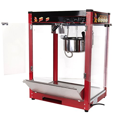 Iglobalbuy Machine à Pop corn, 1370W Appareil à Maïs Grain Professionnel avec L'agitateur Chaque Fournée 3 à 5 Minutes en Style Classique Rétro pour Cinéma Parc