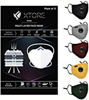 Xtore Pro Defence N-95 Antipollution Mask, CE Certified ISO 9001:2015 Certified, Anti-Bacterial with Respirato