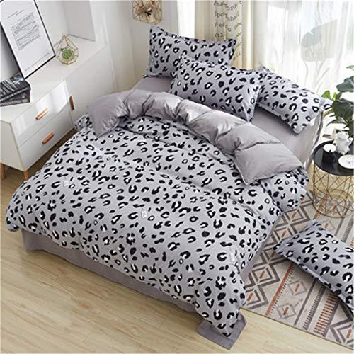 BettwäSche Set Ab Seitenbett Bett Super King Size BettwäSche Rosa Bettbezug Set Herz Hause BettwäSche Frauen BettwäSche Black Grey Leopard Queen ()