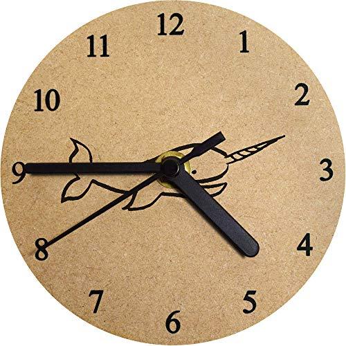 Azeeda 130mm 'Narval' Reloj de Pared pequeño MDF (CK00024286)
