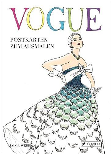 VOGUE - Postkarten zum Ausmalen: Postkartenbuch mit 24 Motiven zum Ausmalen