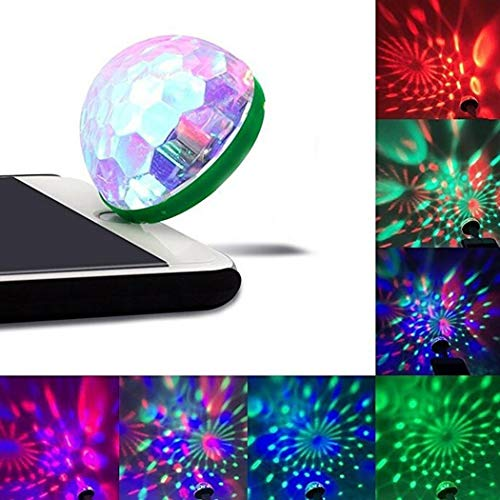 Voiks Mini-USB-Disco-Licht, tragbares Party-Licht, DC 5 V, USB, Disco-Ball, DJ-Lichter, Karaoke-Party-LED-Dekoration Android Adapter