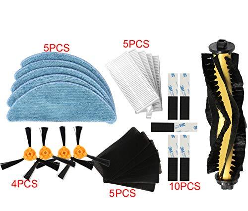 YanBan Staubsauger Ersatzteile 30pcs/Set für Conga Excellence 5040 990/ iboto Aqua V710/ Eufy Robovac 11 11C/ Deebot N79S N79
