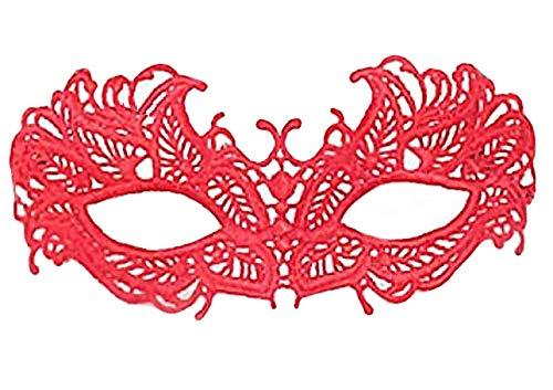 faf01e97235f CM Accessoire coquin déguisement  masque loup en dentelle rouge