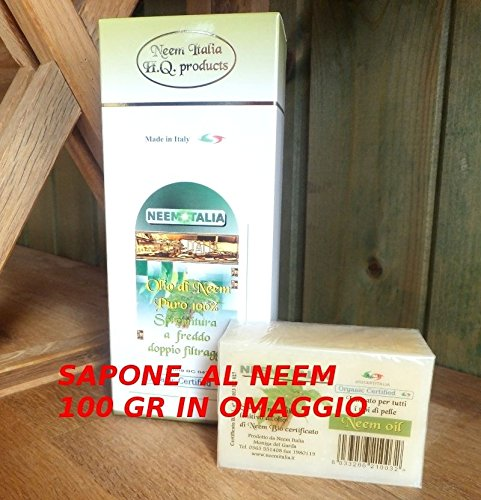 Olio di Neem puro da 250ml. + sapone omaggio