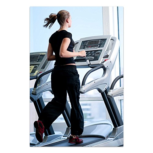 ezyPRNT Girl on treadmill Printed Poster (Size: 16x24 inch)  available at amazon for Rs.445