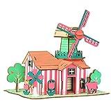 DONG 3D Holz dreidimensional Puzzle DIY Kabine Holzbaumodell Spielzeug, handgefertigte fertige Modelle, Kinder-Sammlerstücke und Geschenke a