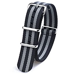 55afaf91b01 Randon Watch Bands NATO Straps Ballistic Nylon Strap with Stainless Steel  Buckle
