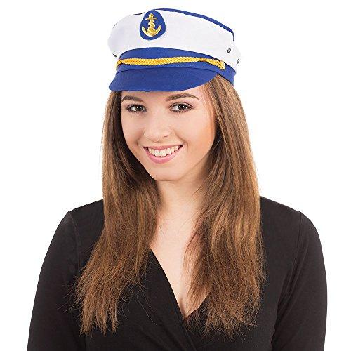 Bristol Novelty bh489Lady Captain Hat, mehrfarbig, one size (Lady Aviator Kostüm)