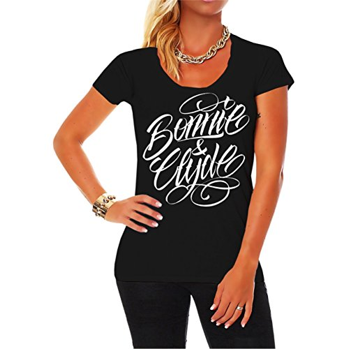 *WUNSCHZAHL Bonnie & Clyde WHITE (Rückendruck mit Wunschzahl)*