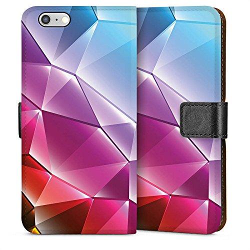 Apple iPhone 4 Housse Étui Silicone Coque Protection Cristal Arc-en-ciel Motif Sideflip Sac