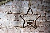 Deko Stern aus Metall mit Kerzenhalter zum Aufhängen Rost Weihnachten Deko