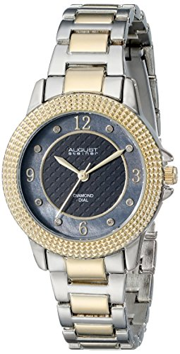 August Steiner Women's AS8154TTG Metal Watch with Two-Tone Link Bracelet