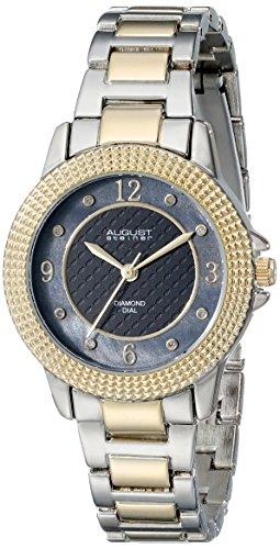 August Steiner Women's AS8154TTG Metal Watch with Two-Tone Link Bracelet