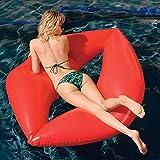 Gigante emoji labbra rosse Galleggiante per Mare e Piscina. Bambini e adulti piscina gigante gonfiabile labbra rosse. Gonfiabile piscina giocattolo di Integrity Co