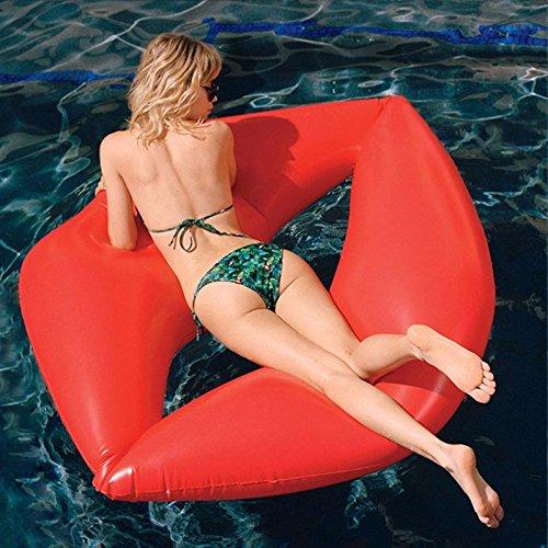 Flotador inflable en forma de labios tamaño gigante para la piscina o...