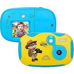 Appareil Photo Enfants Kidizoom pour Enfants avec Mini Caméra Rechargeable pour Ecran D'affichage de 1,44 Pouces pour Les Cadeaux d'anniversaire du Festival pour Enfants pour Les Garçons